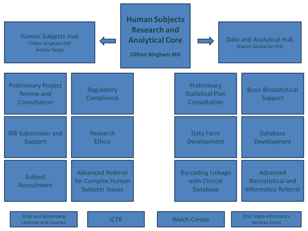 Human Subjects Organization Chart