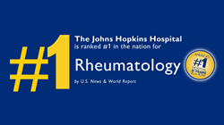 Johns Hopkins Rheumatology Ranked #1 in Specialty for the 9th Year