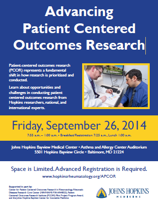 Watch the Advancing Patient Centered Outcomes Research Event