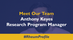 Meet Anthony Keyes, Research Program Manager