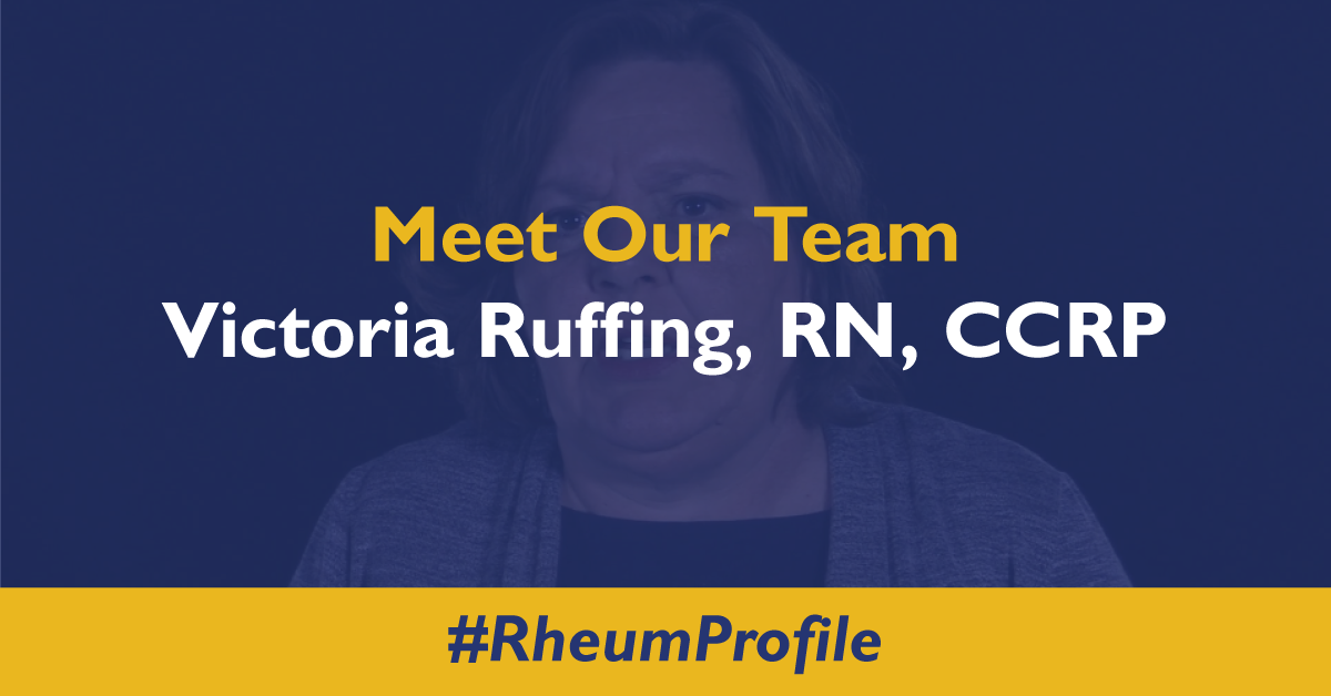 Meet Victoria Ruffing, RN, CCRP