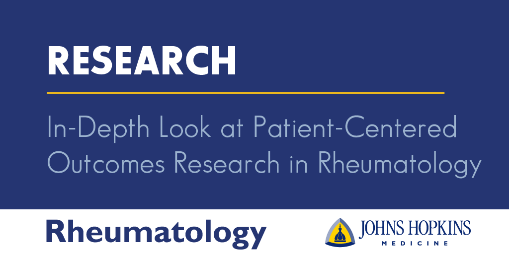 In-depth Look at Patient-Centered Outcomes Research in Rheumatology