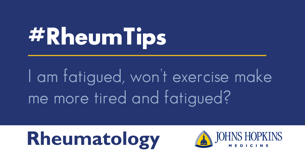 I'm Fatigued, Won't Exercise Make Me More Tired and Fatigued