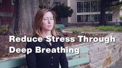Woman Practicing Deep Breathing